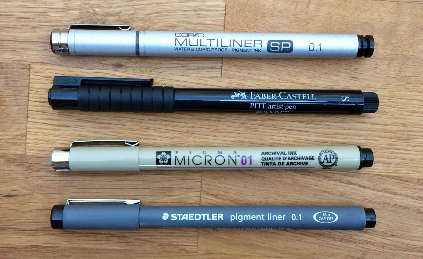 Fineliners overview