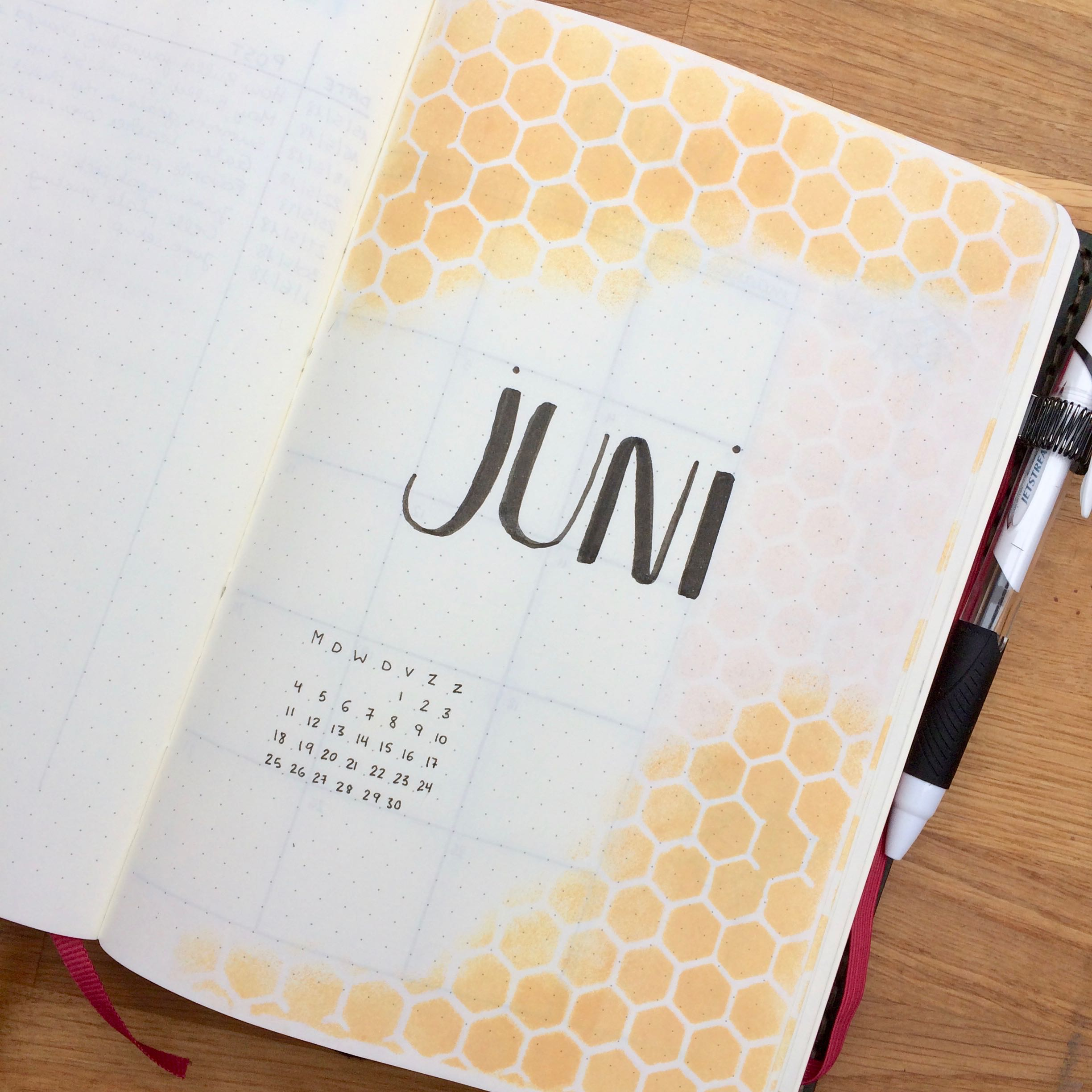 June Bullet Journal Setup
